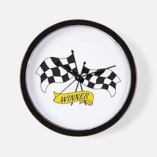Winner Flags Wall Clock