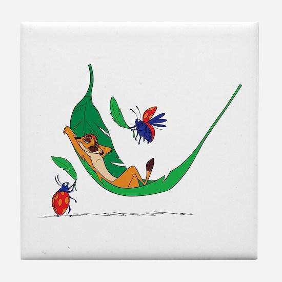 The Lion King on leaf Tile Coaster