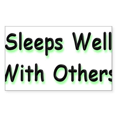 Sleeps Well Rectangle Sticker