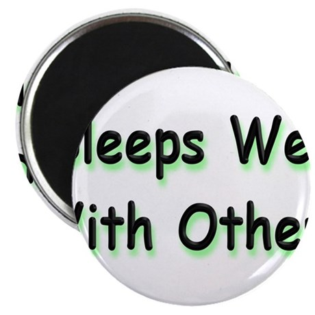 "Sleeps Well 2.25"" Magnet (100 pack)"