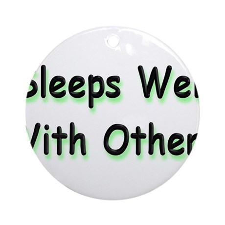 Sleeps Well Ornament (Round)