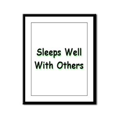 Sleeps Well Framed Panel Print
