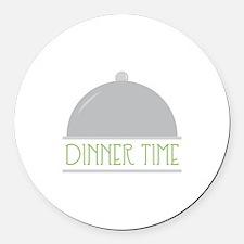 Dinner Time Round Car Magnet
