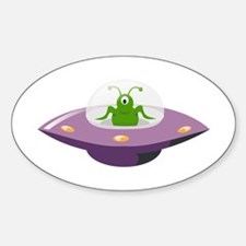 Ufo cartoon Decal