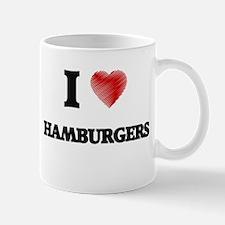 I love Hamburgers Mugs