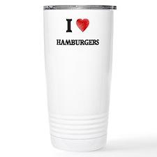 I love Hamburgers Travel Mug