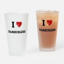 I love Hamburgers Drinking Glass