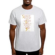 Teilhard de Chardin Ash Grey T-Shirt