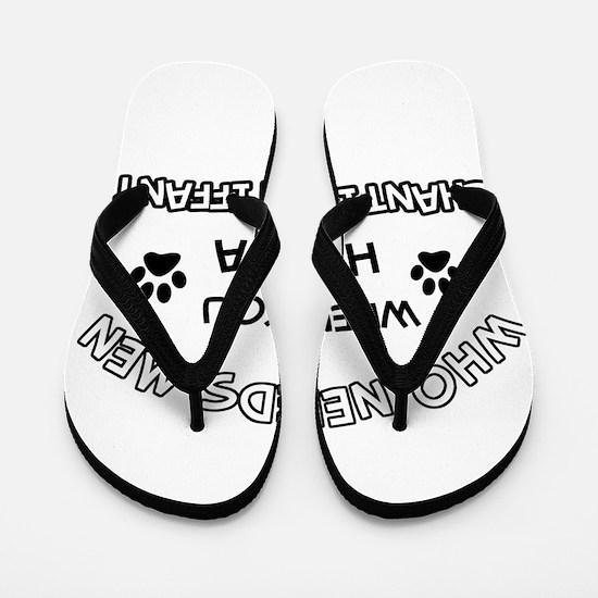 Chantilly Tiffany Cat Designs Flip Flops