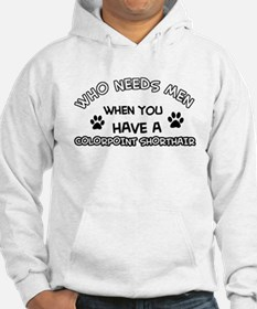 Colorpoint Shorthair Cat Designs Hoodie