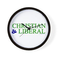 Christian and Liberal Wall Clock