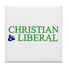 Christian and Liberal Tile Coaster