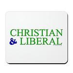 Christian and Liberal Mousepad