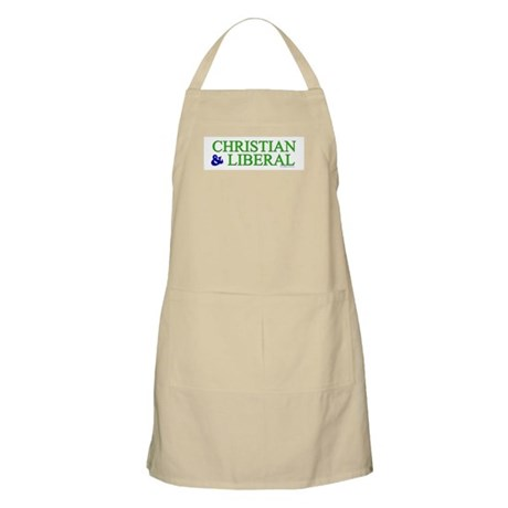 Christian and Liberal BBQ Apron