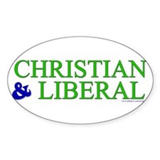 Christian and Liberal Oval Decal