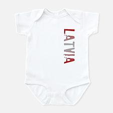 Latvia Stamp Infant Bodysuit