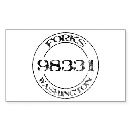 Forks, WA 98331 Rectangle Sticker