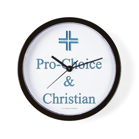 Pro-choice and Christian Wall Clock