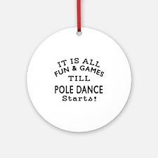 Pole dancing Dance Designs Round Ornament