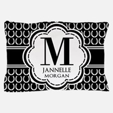 Black and White Custom Monogram Pillow Case