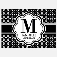 Black and White Custom Monogram Invitations