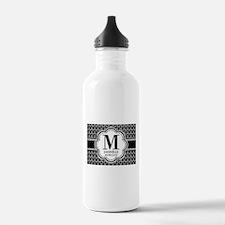 Black and White Custom Water Bottle