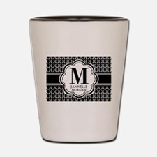 Black and White Custom Monogram Shot Glass