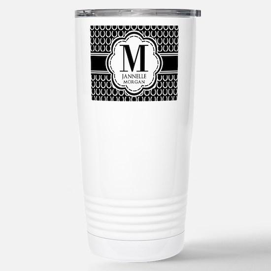 Black and White Custom Stainless Steel Travel Mug