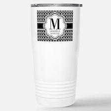 Black and White Custom Travel Mug