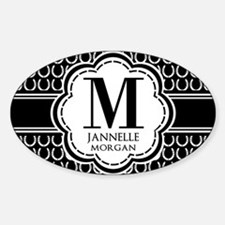 Black and White Custom Monogram Decal