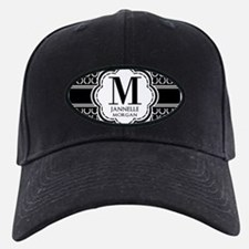 Black and White Custom Monogram Baseball Hat