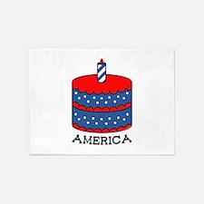 America Cake 5'x7'Area Rug