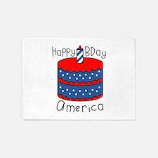 Happy B Day America 5'x7'Area Rug
