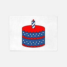 American Birthday Cake 5'x7'Area Rug
