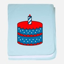 American Birthday Cake baby blanket