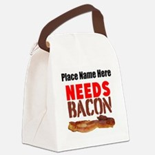 Needs Bacon Canvas Lunch Bag