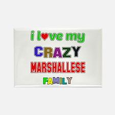 I love my crazy Marshallese famil Rectangle Magnet