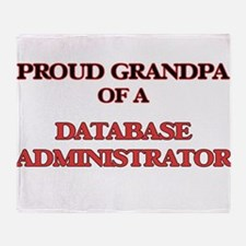 Proud Grandpa of a Database Administ Throw Blanket