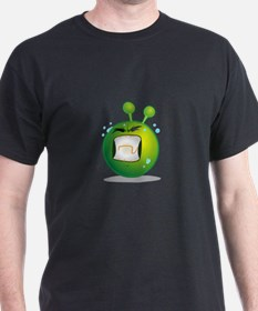Smiley green alien huf T-Shirt