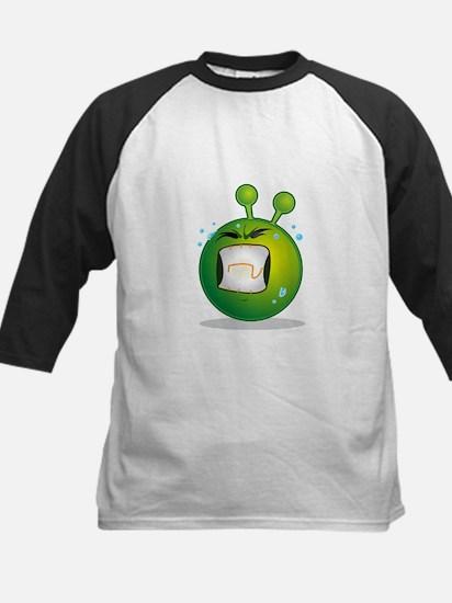 Smiley green alien huf Baseball Jersey