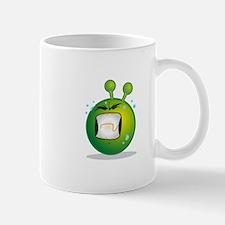 Smiley green alien huf Mugs