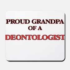 Proud Grandpa of a Deontologist Mousepad