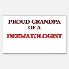 Proud Grandpa of a Dermatologist Decal