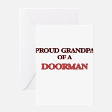 Proud Grandpa of a Doorman Greeting Cards