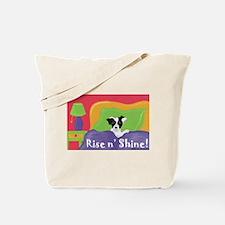 Rise and Shine Black Jack Tote Bag