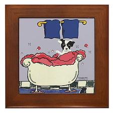 The Bath! Black Jack Framed Tile