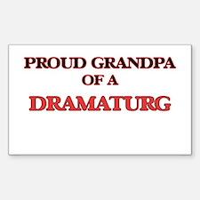 Proud Grandpa of a Dramaturg Decal