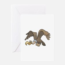Flying Vulture Greeting Cards