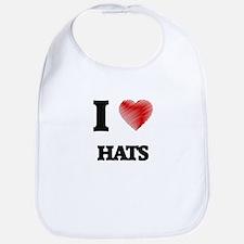 I love Hats Bib