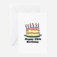 Happy 15th Birthday Greeting Card